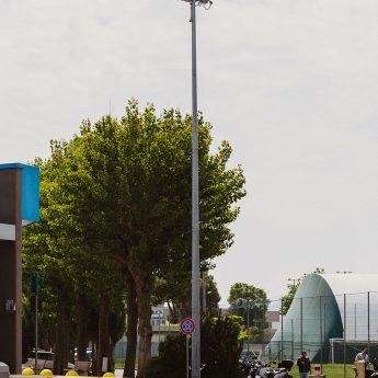 Illuminazione da esterno sede Angelini