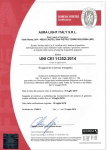 Certificazione Esco - Aura Light Italia